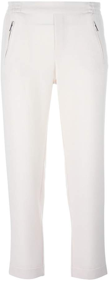 Steffen Schraut elasticated waistband cropped trousers