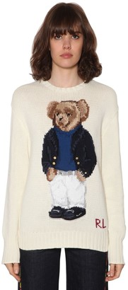 Polo Ralph Lauren Bear Intarsia Cotton Knit Sweater