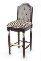 Mackenzie Childs MacKenzie-Childs Courtly Check Underpinnings Barstool with Back