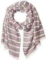 D&Y Women's Distressed Stripe Oblong Scarf