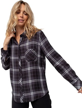 Rails Hunter Onyx/Slate/White Long-Sleeve Button Up - Women's