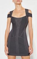 Herve Leger Evanne Multi-Texture Mesh Dress