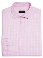 Ike Behar Textured Check Regular Fit Dress Shirt