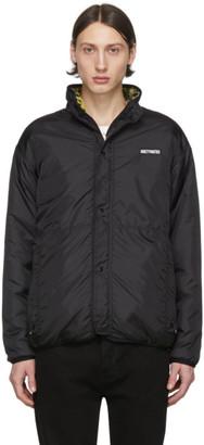 Wacko Maria Reversible Black Boa Fleece Jacket
