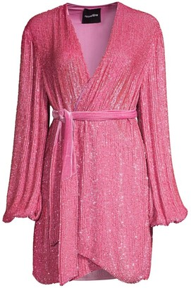 retrofete Gabrielle Sequin Wrap Dress