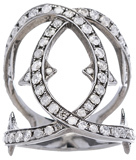 Loree Rodkin Spiked Diamond Loop Ring in Metallics.