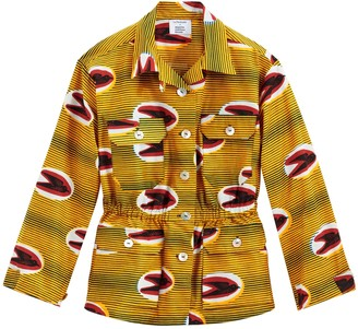 La Redoute Maison Chateau Rouge X Tribal Print Utility Jacket with Drawstring Waist