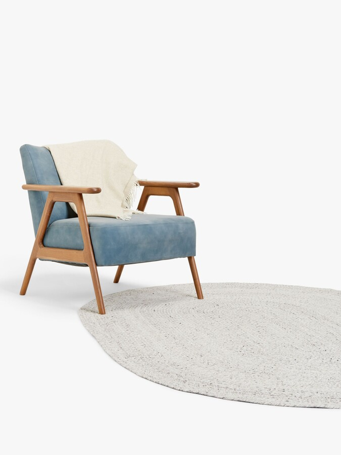 Thumbnail for your product : John Lewis & Partners Indoor & Outdoor Braided Oval Rug, Marl Grey, L240 x W170 cm