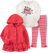 Kids Headquarters 3-Pc. Hooded Jacket, T-Shirt & Leggings Set, Baby Girls (0-24 months)
