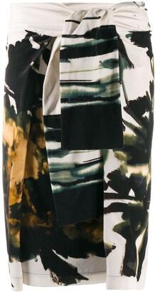 Sara Roka Vea tie-front skirt