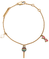 Marc Jacobs Lolli Charm Bracelet in Metallic Gold.