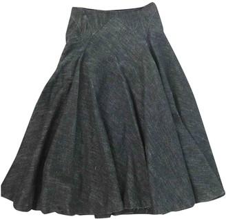Dries Van Noten Grey Denim - Jeans Skirts