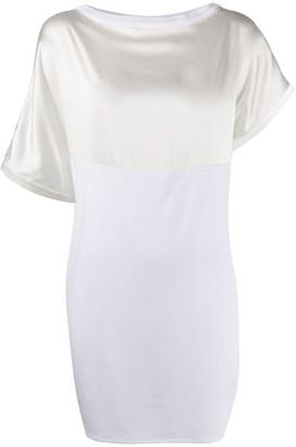 Malo Asymmetrical Panelled Shift Skirt