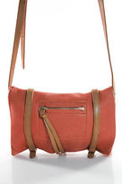 Linea Pelle Orange Tan Leather Small Buckle Strap Crossbody Flap Handbag