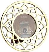 "Mela Artisans Brass Lotus Flower Frame Round ""Noor"""