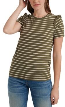 Lucky Brand Striped Cotton T-Shirt