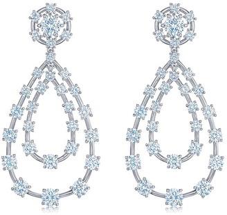 Kwiat 18kt white gold Starry Night diamond double teardrop earrings
