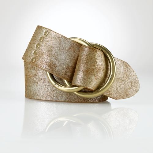 Ralph Lauren Metallic Suede O-Ring Belt