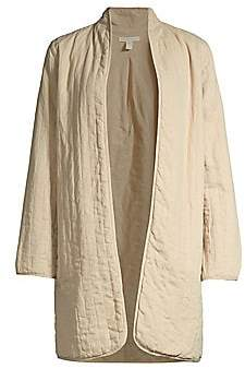 Eileen Fisher Women's Quilted Linen Blend Jacket