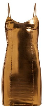 Lisa Marie Fernandez Tank Pvc Mini Dress - Womens - Bronze