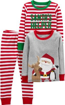 Simple Joys by Carter's Boys' 3-Piece Snug-Fit Cotton Christmas Pajama Set