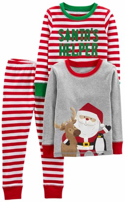 Simple Joys by Carter's Boys' Toddler 3-Piece Snug-Fit Cotton Christmas Pajama Set