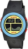 Nixon Men's 'Rhythm' Quartz Plastic and Polyurethane Watch, Color:Black (Model: A3851935-00)