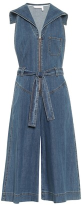 See By Chloã© Denim stretch-cotton jumpsuit