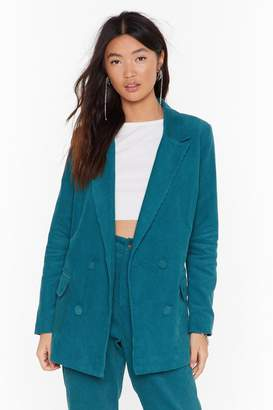 Nasty Gal Womens It Suits You Double Breasted Blazer - green - 6
