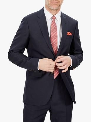 Jaeger Silk Linen Regular Fit Suit Jacket, Navy