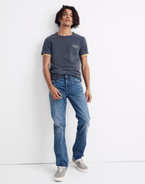 Madewell Straight Authentic Flex Jeans in Arcwood Wash