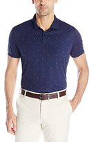 J. Lindeberg Men's Liam Regular-Fit Tx Jersey Golf Polo Shirt, White