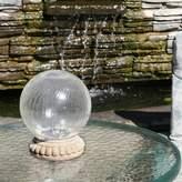 Ball Crackled Glass LED Light Gazing
