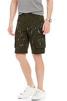 Armani Exchange Paint Splatter Cargo Shorts