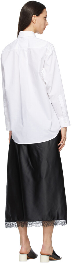 Thumbnail for your product : MM6 MAISON MARGIELA White & Black Shirt Slip Dress