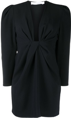IRO Ruched Long-Sleeved Mini Dress