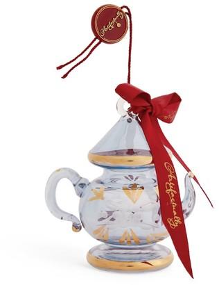 Artifactually Painted Teapot Tree Decoration