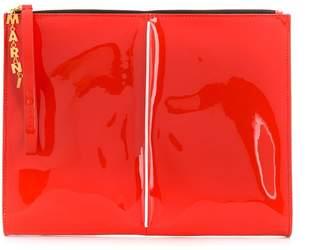 Marni patent clutch bag