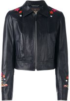Roberto Cavalli circus patch leather jacket