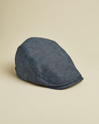Ted Baker Plain Cotton Blend Flatcap