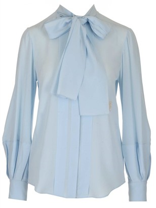 Chloé Pussybow Long-Sleeve Blouse