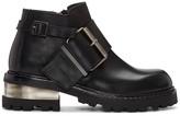 Maison Margiela Black Big Buckle Boots
