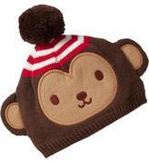 Old Navy Monkey Pom-Pom Critter Beanies for Baby