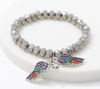 Kirks Folly Forever Loved Rainbow Angel Wing Bracelet