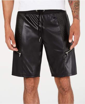 "INC International Concepts Inc Men Scotty Faux Leather 10 3/4"" Shorts"