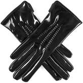 Black Patent Leather Gloves