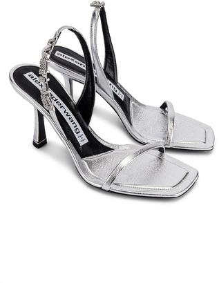 Alexander Wang Ivy 85 Sandal in Silver | FWRD