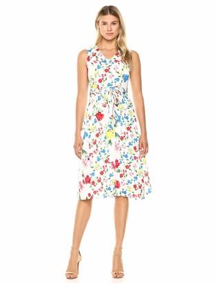 Calvin Klein Women's V-Neck Angle Hem Dress