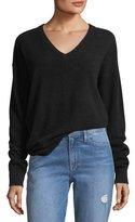 Frame Oversized V-Neck Long-Sleeve Cashmere Sweater
