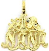 FindingKing 14K Gold Nana Charm Flower Jewelry 18mm